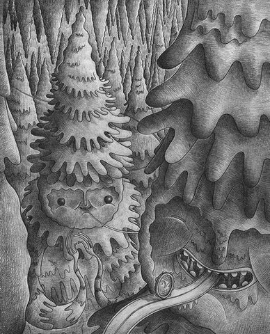 """Junction"" Original Framed Sketch- ""Stalagtites"" By Nathan Jurevicius"