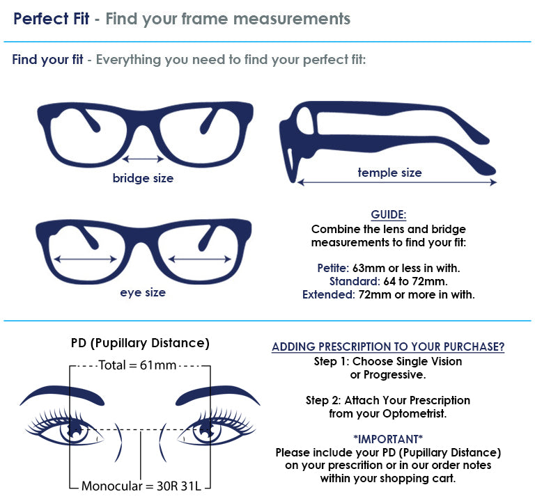 Designer Eyes Size Guide
