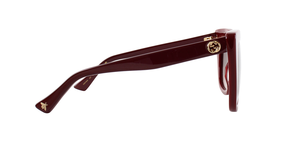 Gucci - GG0163S Burgundy Cat-Eye Women Sunglasses - 51mm