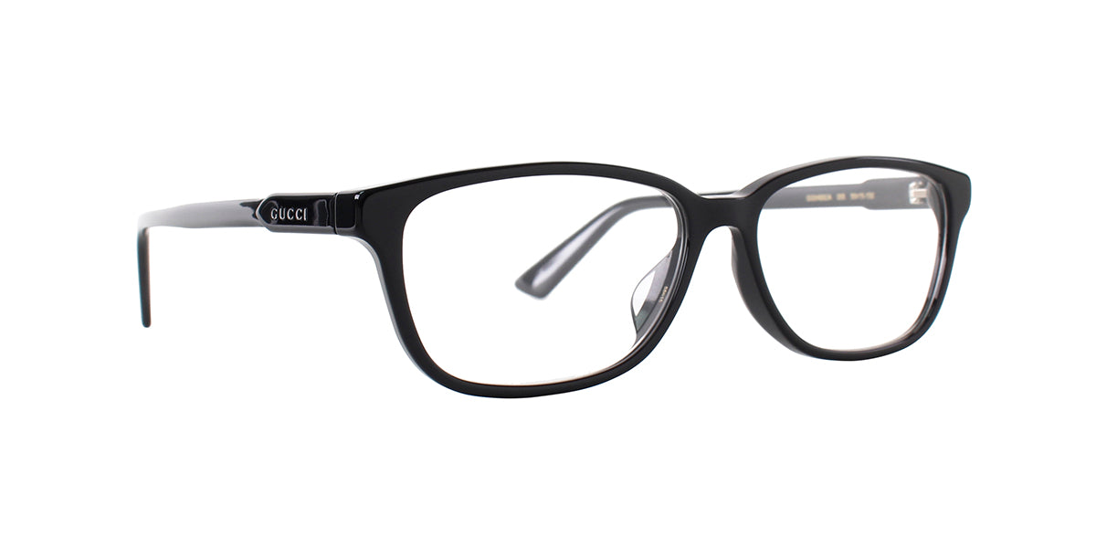 Gucci - GG0493OA Black Rectangular Unisex Eyeglasses - 55mm-Eyeglasses-Designer Eyes