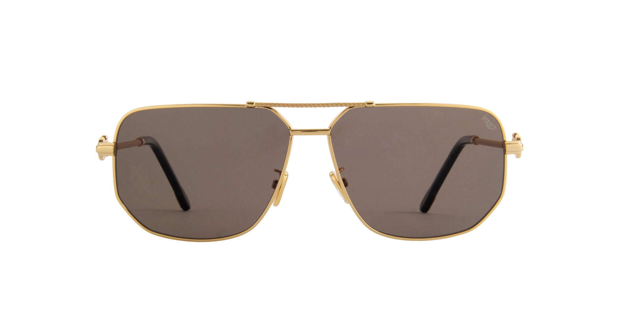 Fred - FG40013U Shiny Endura Gold Aviator Men Sunglasses - 62mm-Sunglasses-Designer Eyes
