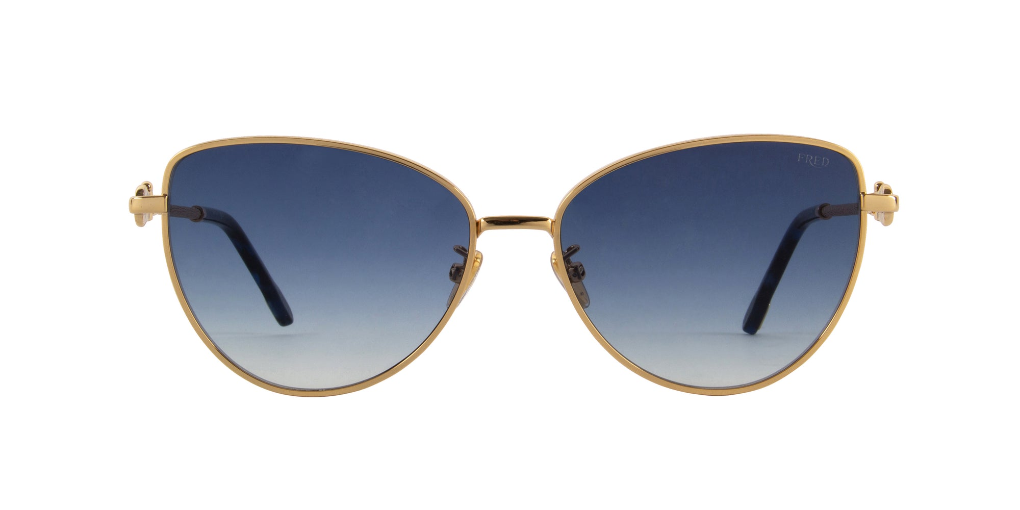 Fred - FG40015U Shiny Endura Gold Cat Eye Sunglasses - 59mm-Sunglasses-Designer Eyes