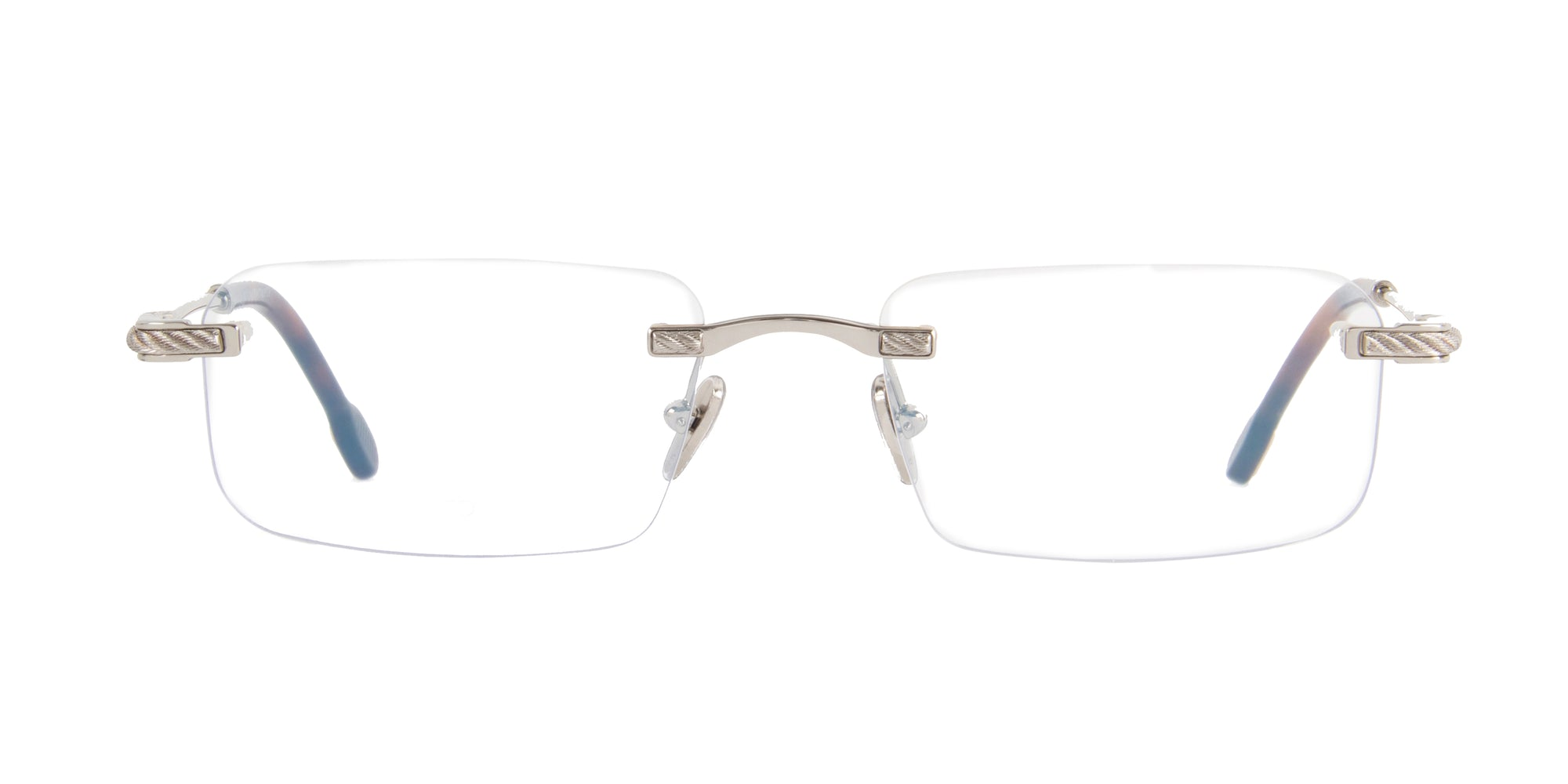 Fred - FG50012U Shiny Rhodium Rimless Unisex Eyeglasses - 54mm-Eyeglasses-Designer Eyes