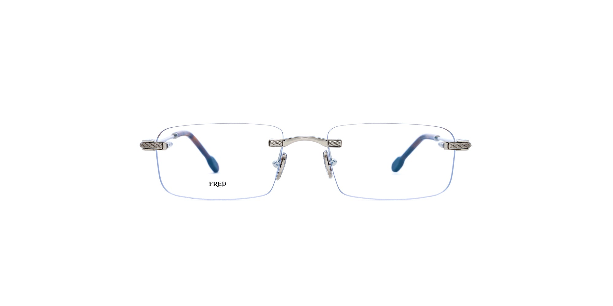 Fred - FG50012U Silver Rimless Unisex Eyeglasses - 56mm-Eyeglasses-Designer Eyes