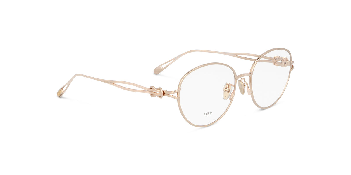 Fred - FG50026U Shiny Rose Gold/Clear Oval Women Eyeglasses - 53mm
