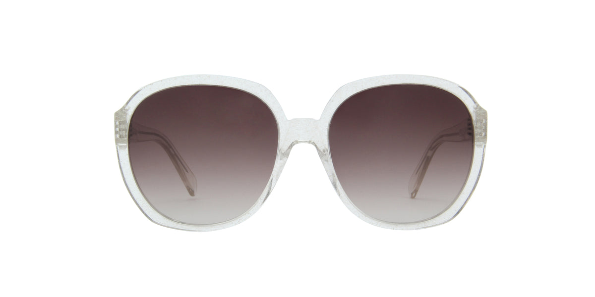 Celine - CL40147I Crystal/Brown Gradient Round Women Sunglasses - 63mm