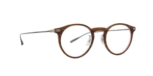 Eyevan - Bliss Wood Pink/Clear Round Unisex Eyeglasses - 46mm