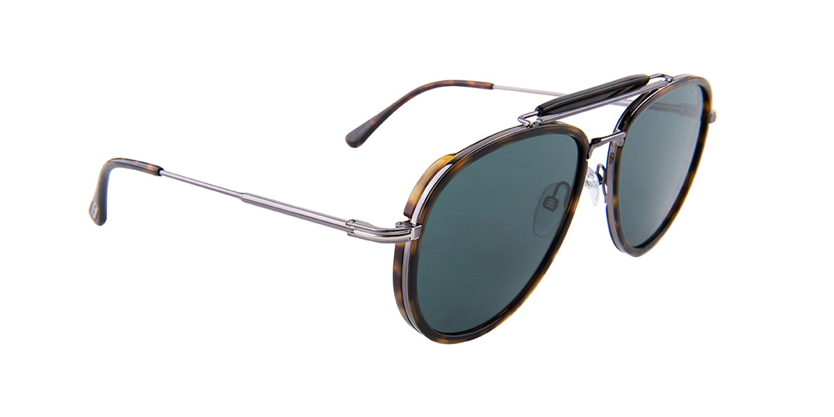Tom Ford - FT666 Havana Aviator Women Sunglasses - 58mm