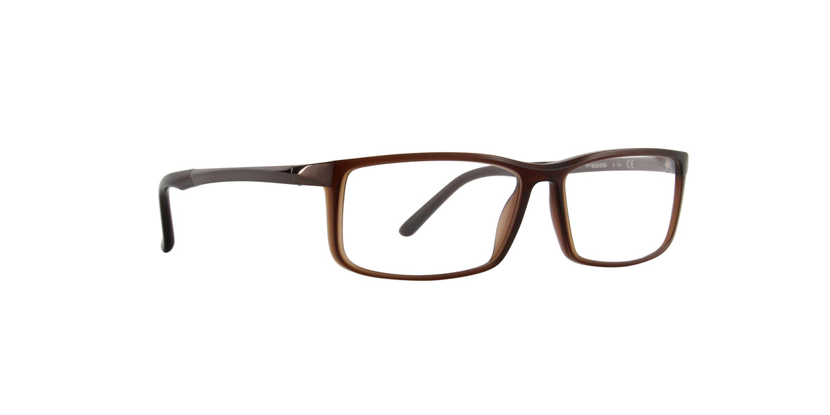 Porsche Design - P8228 brown Rectangular Men Eyeglasses - 56mm
