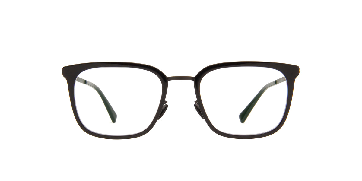 Mykita - Hagen A6-Black/Black Rectangle Unisex Eyeglasses - 50mm