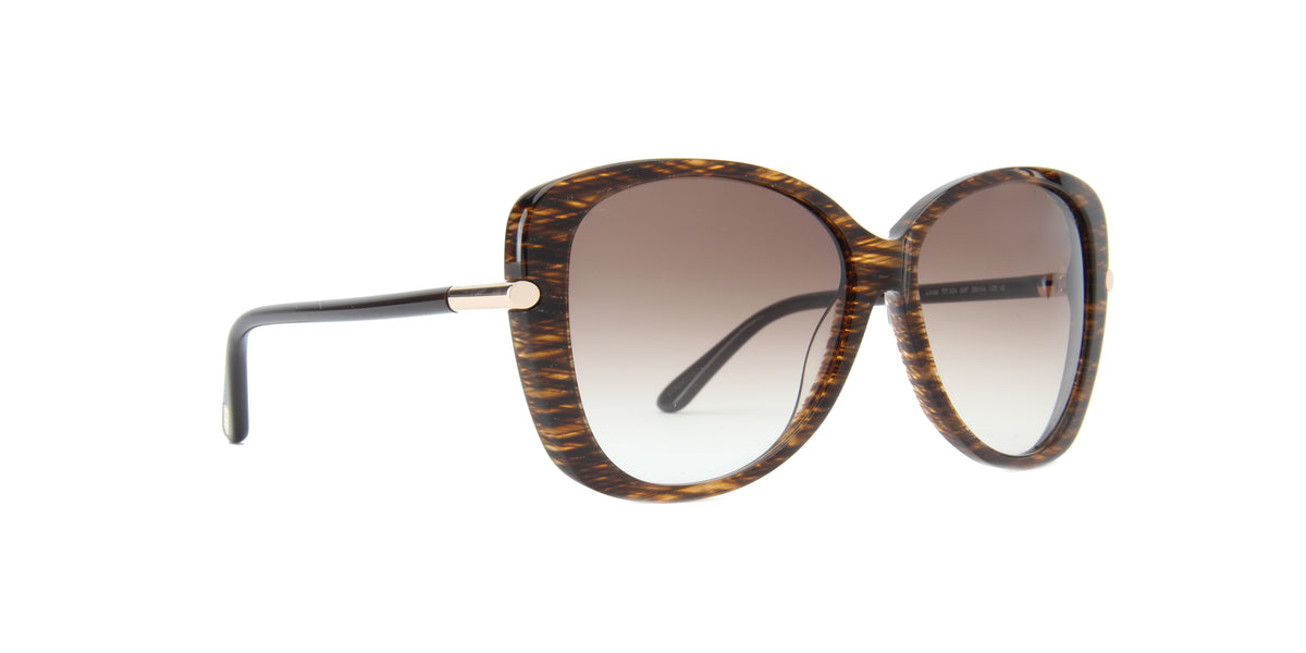 Tom Ford - FT0324 Brown Butterfly Women Sunglasses - 59mm