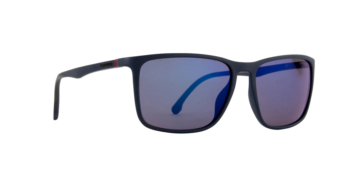 Carrera - CA8031S Mtt Blue Rectangular Unisex Sunglasses - 57mm