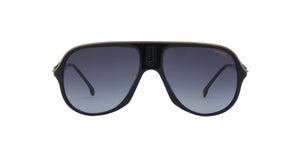 Carrera-Safari 65 Black/Grey Shaded Rectangular Unisex Sunglasses-62mm