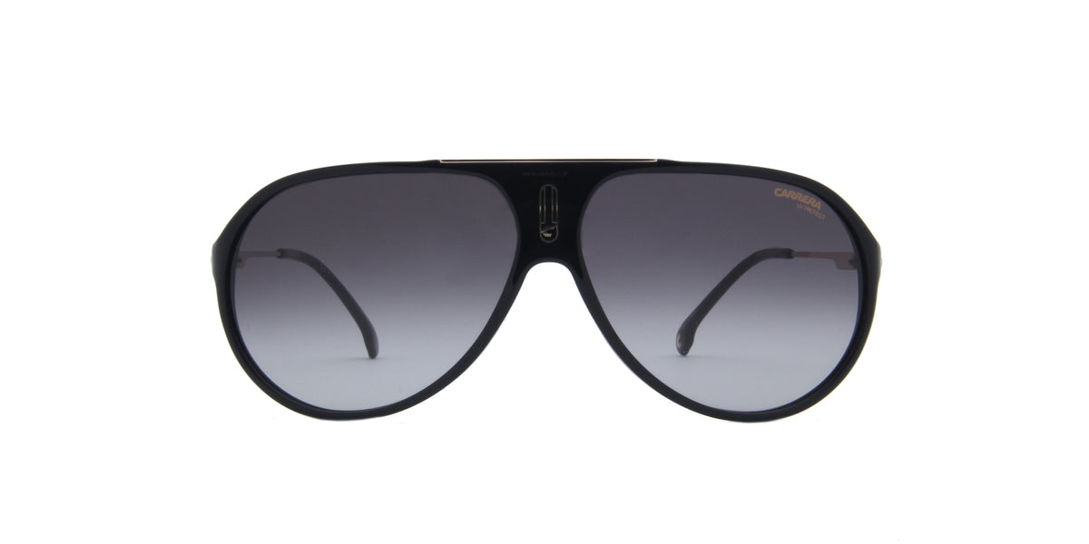 Carrera-Hot 65 Black/Grey Gradient Aviator Women Sunglasses-63mm
