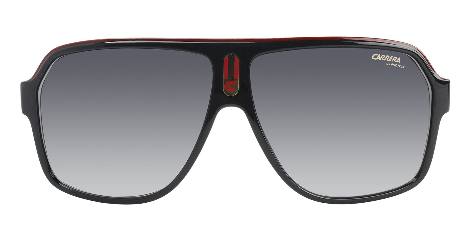 Carrera - CA1001S Black White/Grey Shaded Square Unisex Sunglasses - 62mm