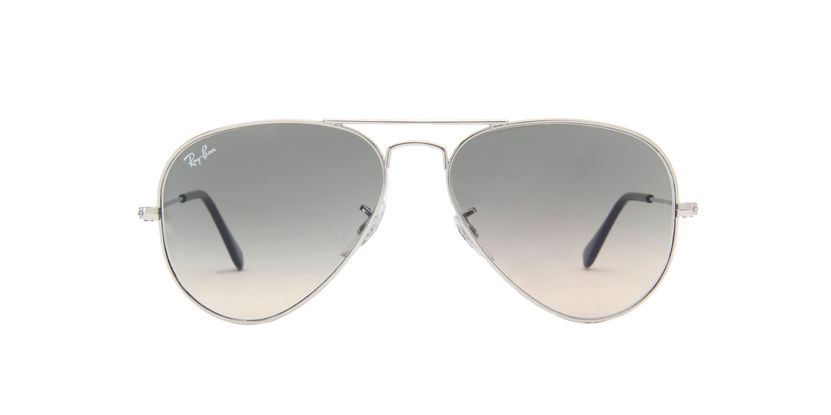 Ray Ban - Aviator Gradient Silver/Grey Gradient Unisex Sunglasses - 55mm