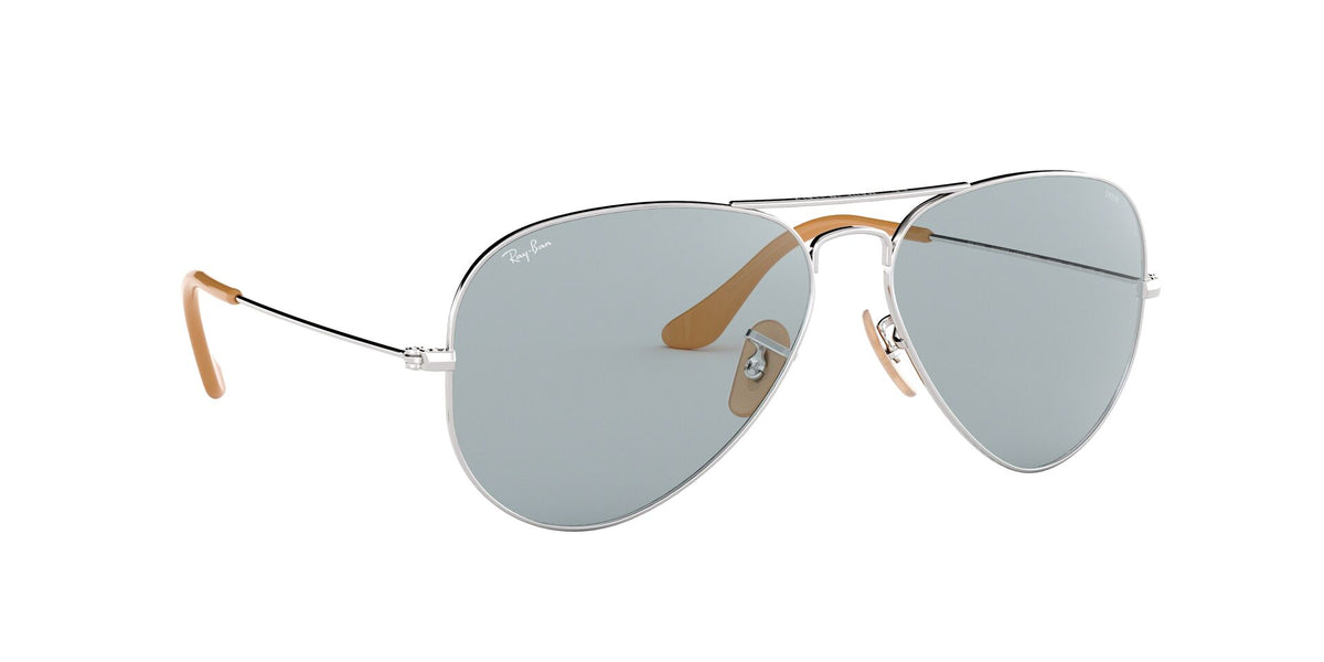 Ray Ban - Aviator Washed Evolve Silver/Photo Blue Unisex Sunglasses - 58mm