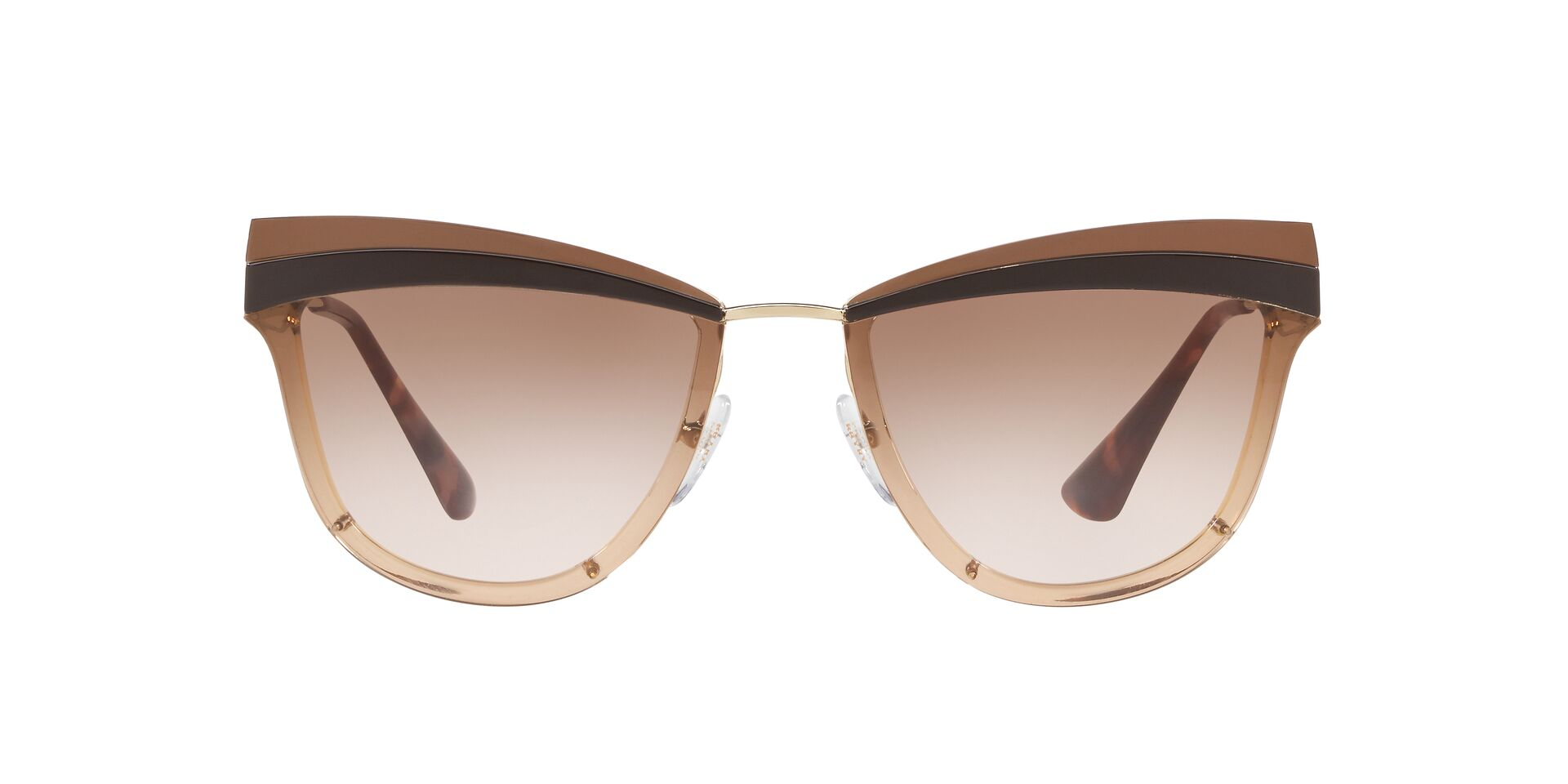 Prada - PR12US Pale Gold/Brown Gradient Cat Eye Women Sunglasses - 65mm