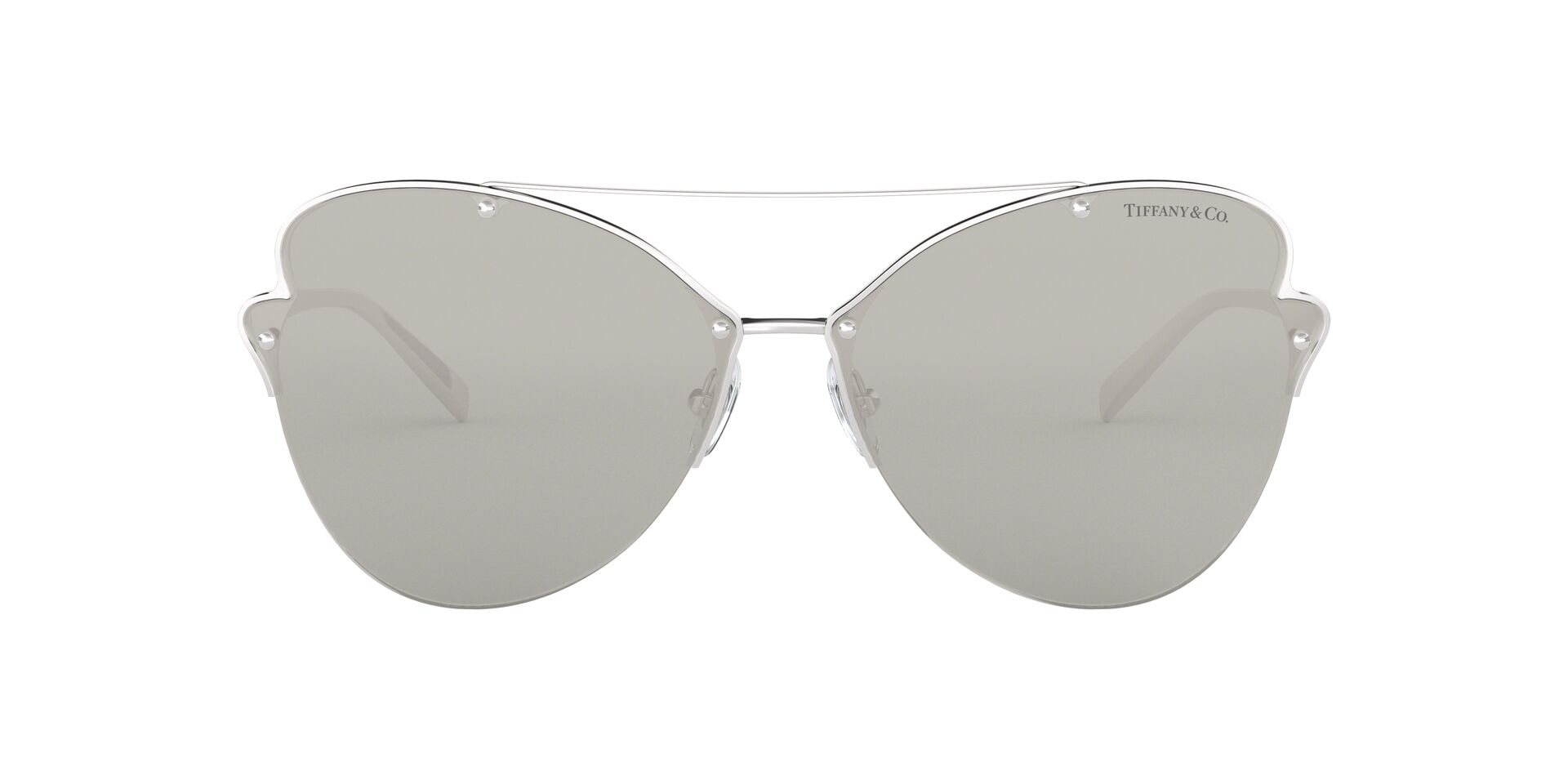 Tiffany - TF3063 Silver/Grey Butterfly Women Sunglasses - 64mm