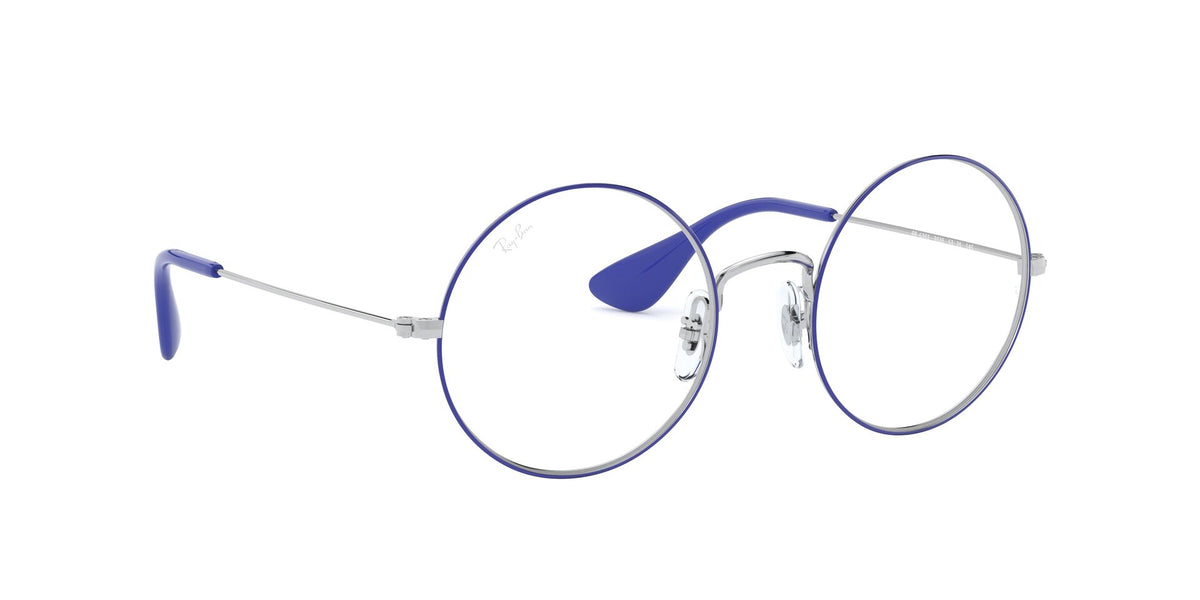 Ray Ban Rx - RX6392 Silver On Top Blue Round Unisex Eyeglasses - 53mm
