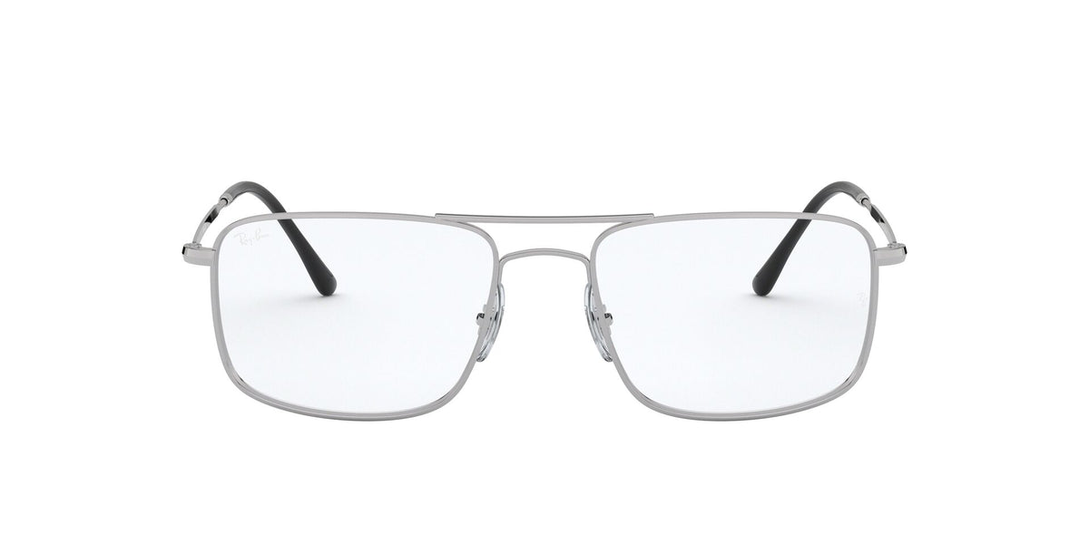 Ray Ban Rx - RX6434 Silver Rectangle Women Eyeglasses - 55mm