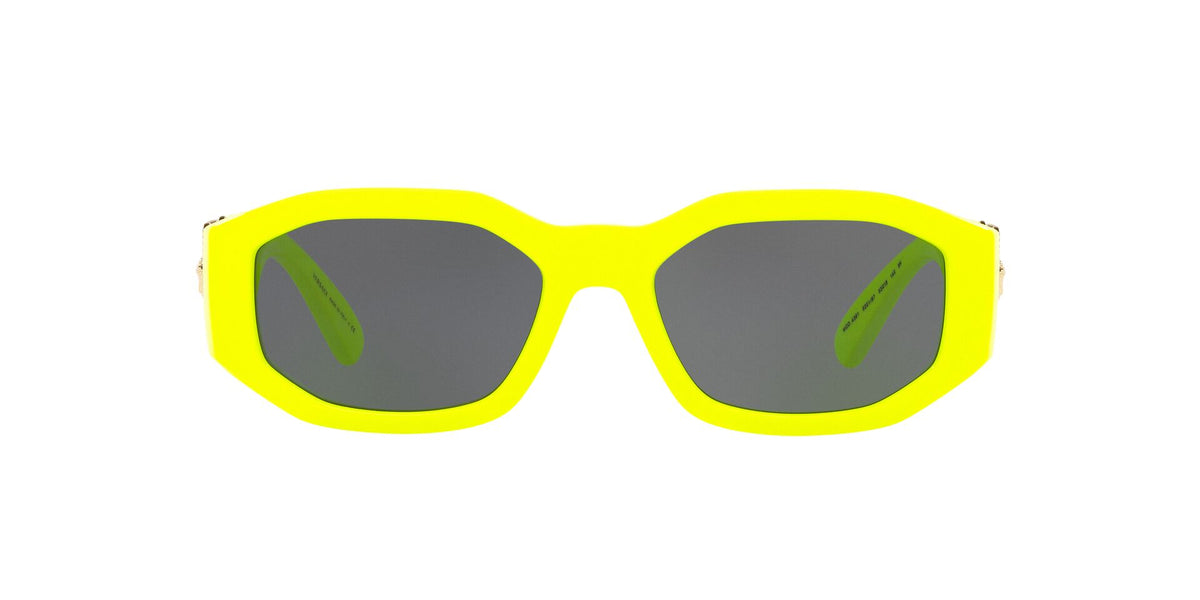 Versace - VE4361 Yellow Fluo Irregular Unisex Sunglasses - 53mm