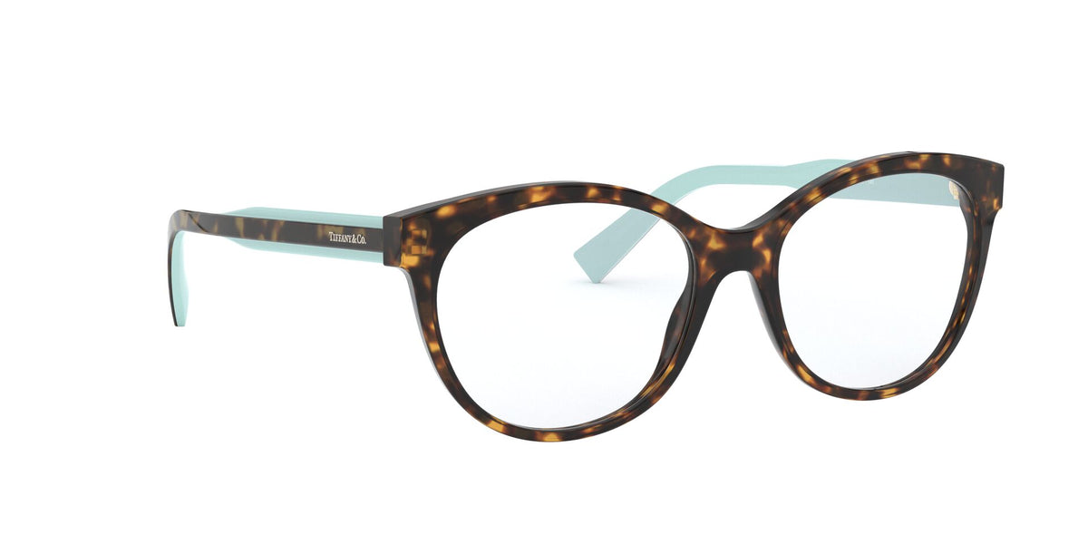 Tiffany - TF2188 Havana Cat Eye Women Eyeglasses - 53mm