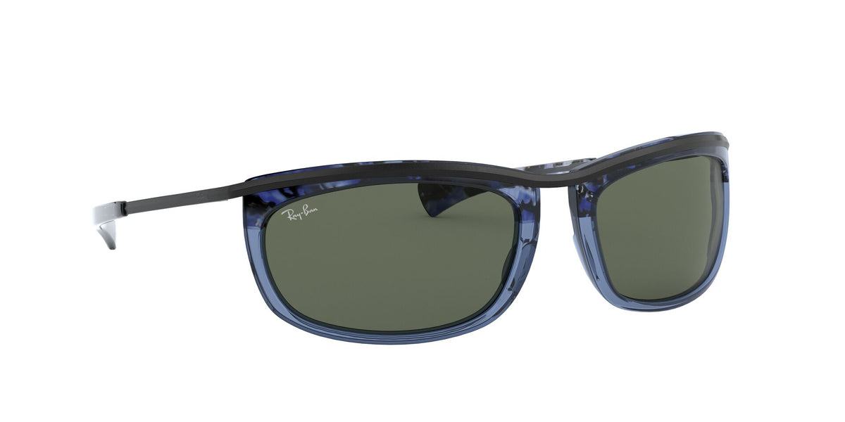 Ray Ban - Olympian I Gradient Havana Blue/Green Oval Unisex Sunglasses - 62mm