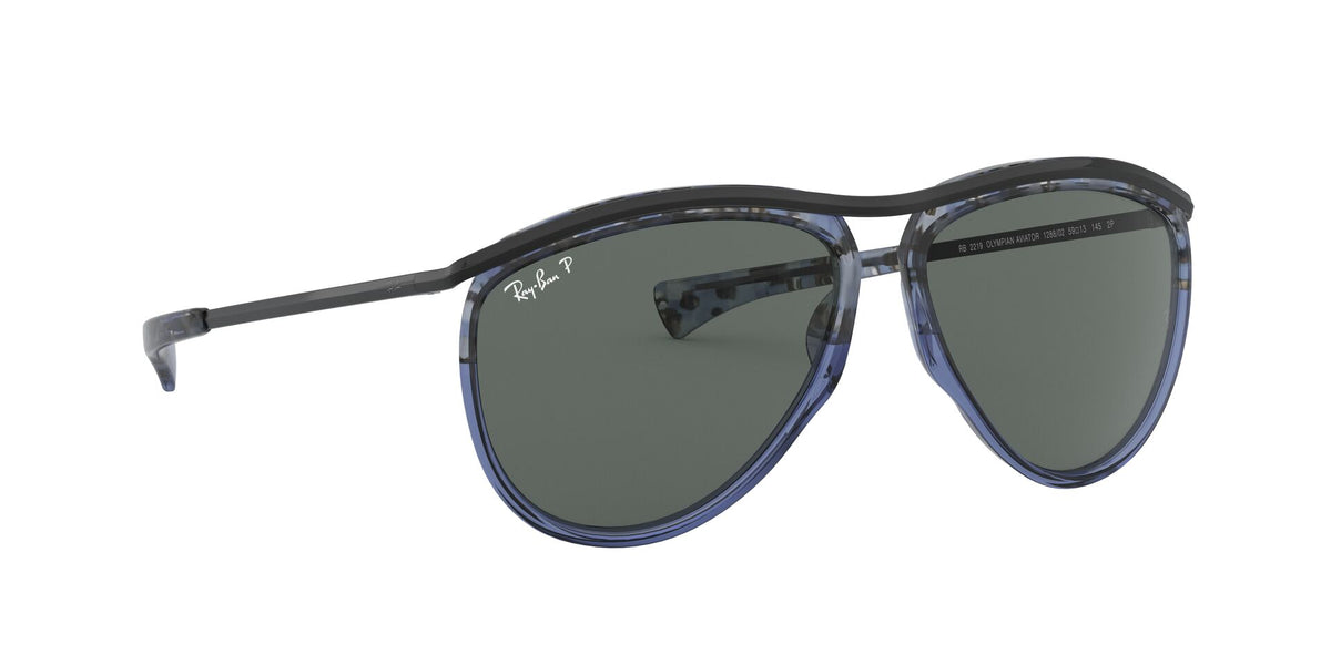 Ray Ban - Olympian Aviator Havana Blue/ Polarized Unisex Sunglasses - 59mm
