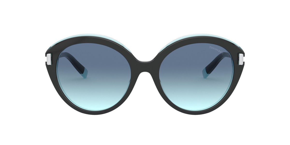 Tiffany - TF4167 Black/Transparent Blue Round Women Sunglasses - 54mm