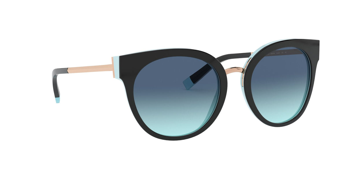 Tiffany - TF4168 Black/Blue Round Women Sunglasses - 54mm