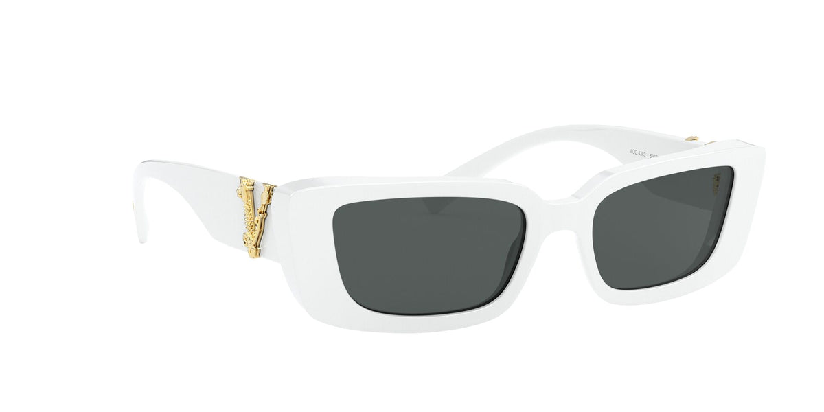 Versace - VE4382 White Irregular Women Sunglasses - 52mm