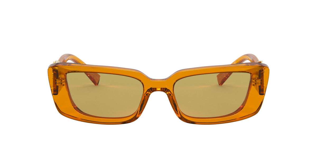 Versace - VE4382 Transparent Orange Irregular Women Sunglasses - 52mm