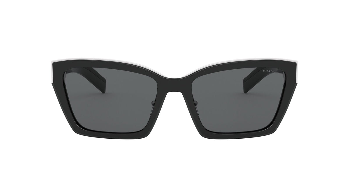 Prada - PR14Xs Black/Darkgrey Cat Eye Women Sunglasses - 56mm