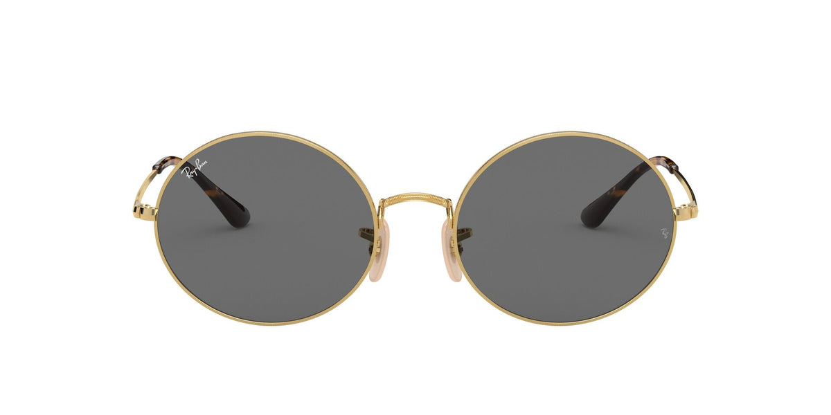 Ray Ban - Oval 1970 Gold/Dark Grey Rectangle Unisex Sunglasses - 54mm