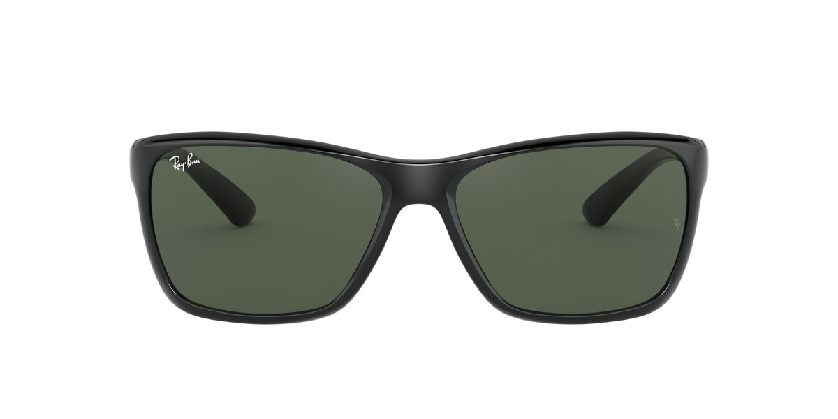 Ray Ban - RB4331 Black/Green Square Men Sunglasses - 61mm