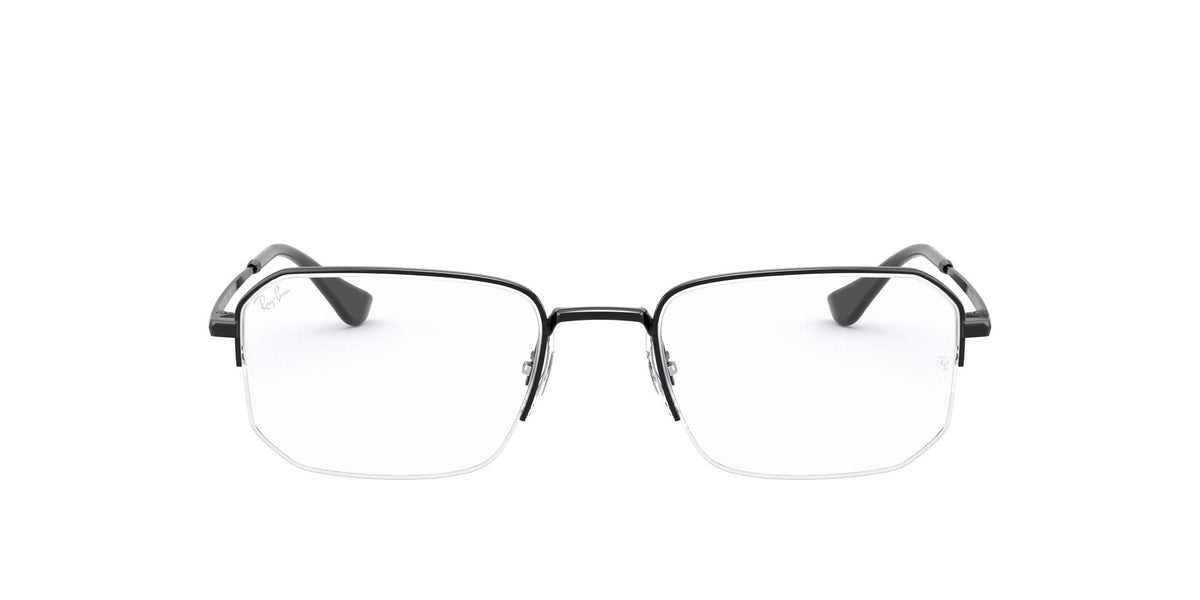 Ray Ban Rx - RX6449 Black Irregular Unisex Eyeglasses - 53mm