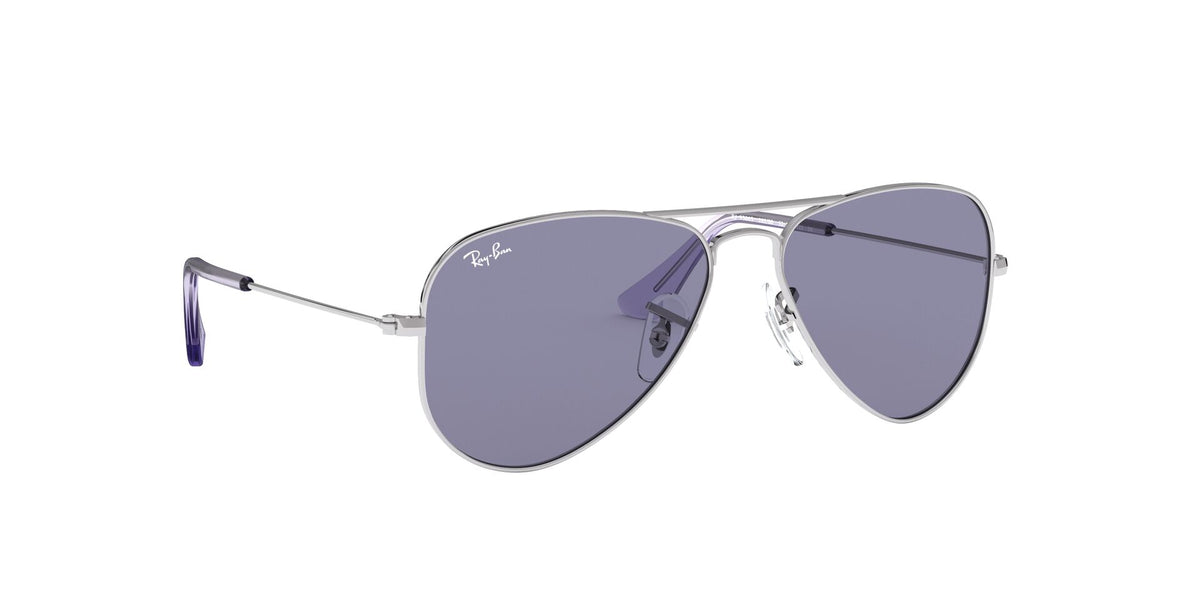 Ray Ban Jr - Aviator Junior Silver Aviator Unisex Sunglasses - 50mm
