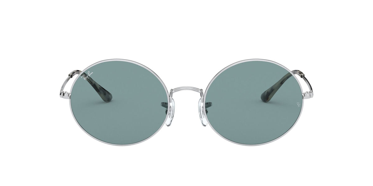 Ray Ban - Oval 1970 Silver/Azure/Blue Mirror Oval Unisex Sunglasses - 54mm