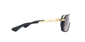 Dita - Mach Eight Matte Black Yellow Gold/Light Brown Shield Men Sunglasses - 131mm