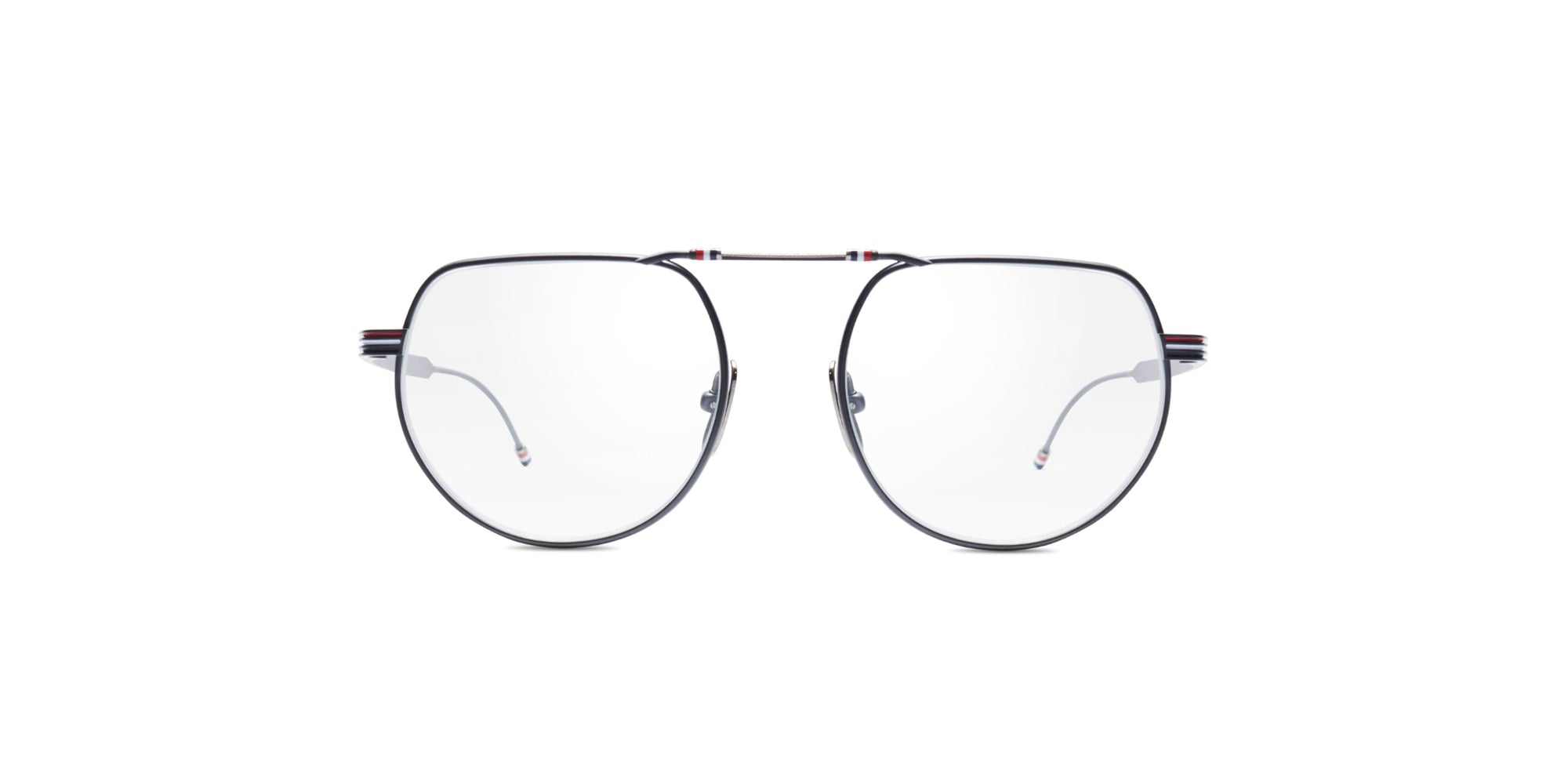 Thom Browne - TB-918-A Black Round Men Eyeglasses - 51mm