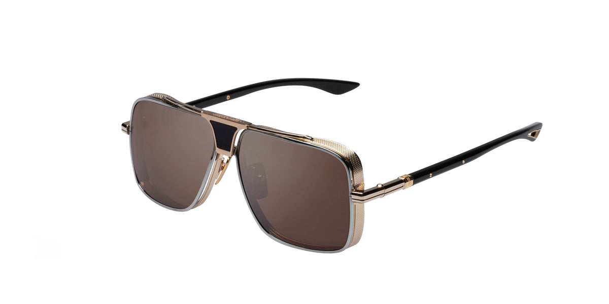 Dita Epiluxury - EPLX.5 Black/Gold Aviator Men Sunglasses - 61mm