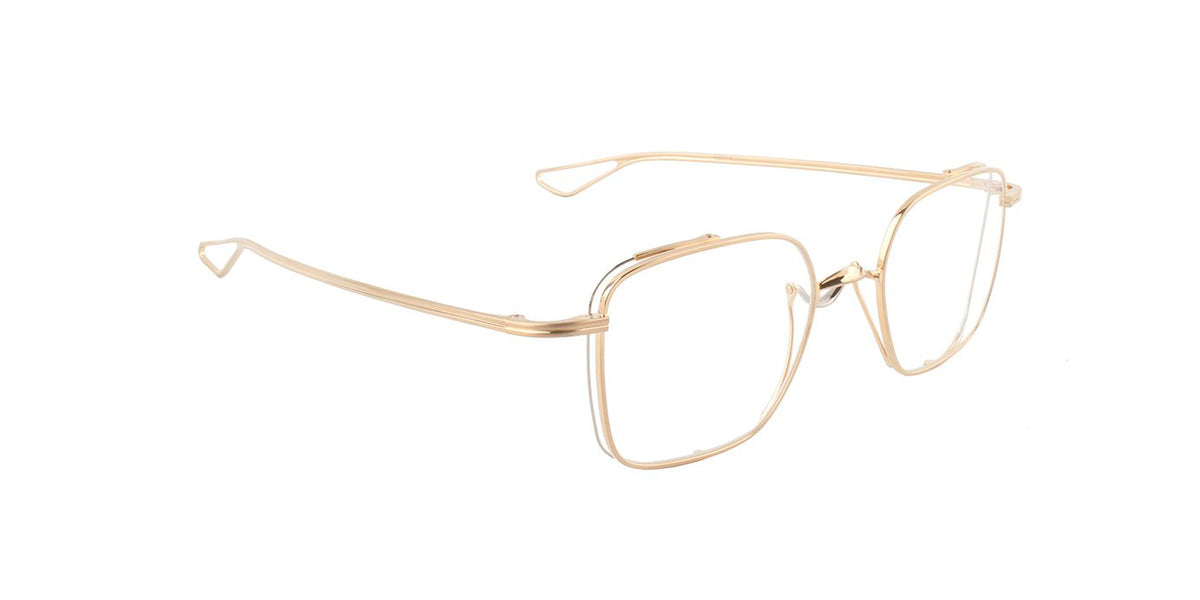 Dita - Lineto Gold Square Women Eyeglasses - 49mm