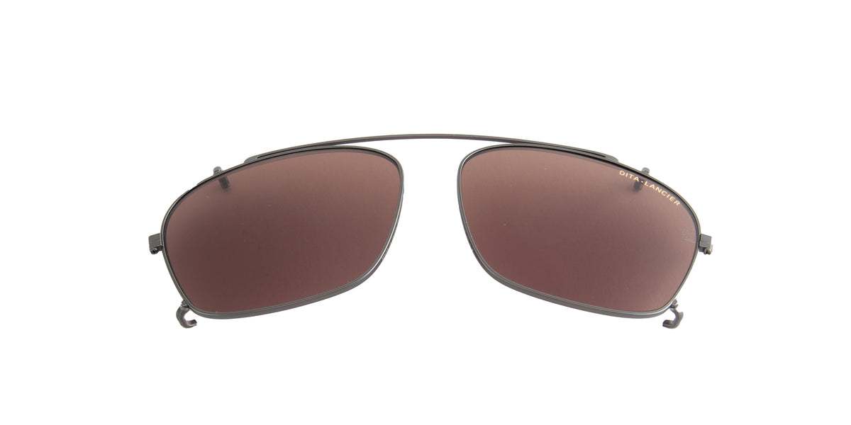 Dita - LSA-403 Gunmetal Land/Brown Polarized Rectangular Unisex Clip S - 55mm
