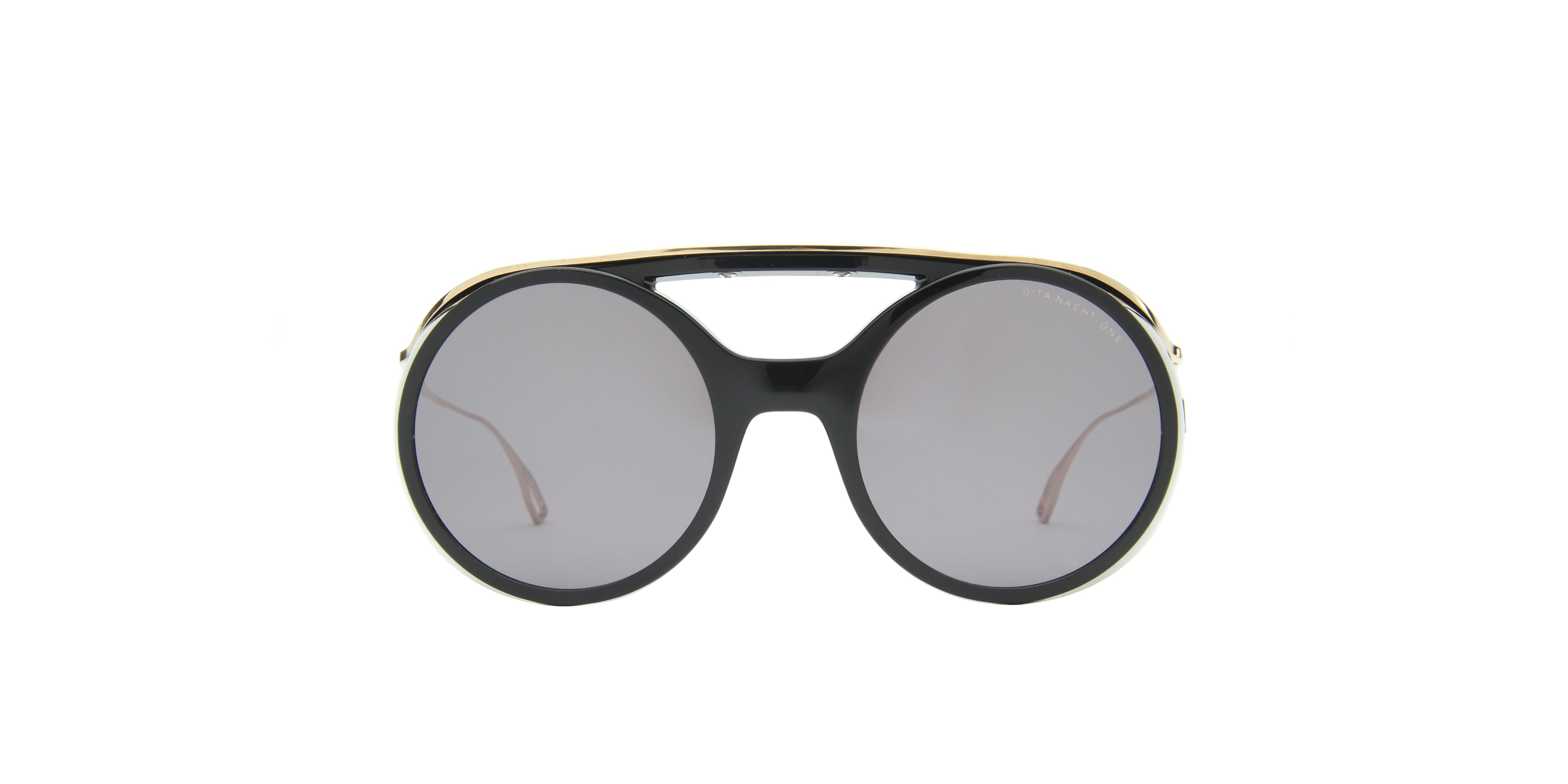 Dita - Nacht-One Black Gold Oval  Sunglasses - 56mm