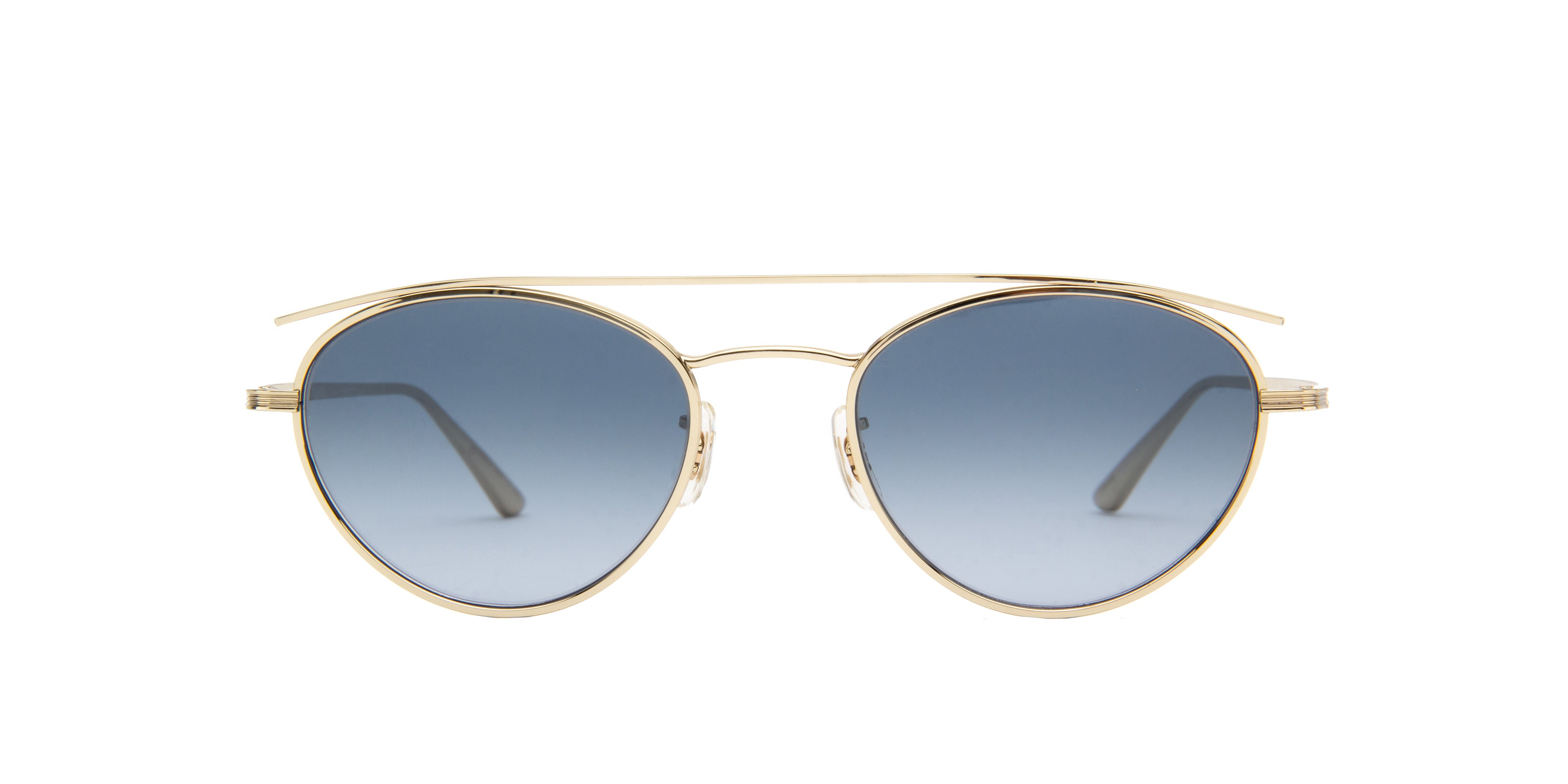 Oliver Peoples - Hightree Gold Oval Men Sunglasses - 49mm