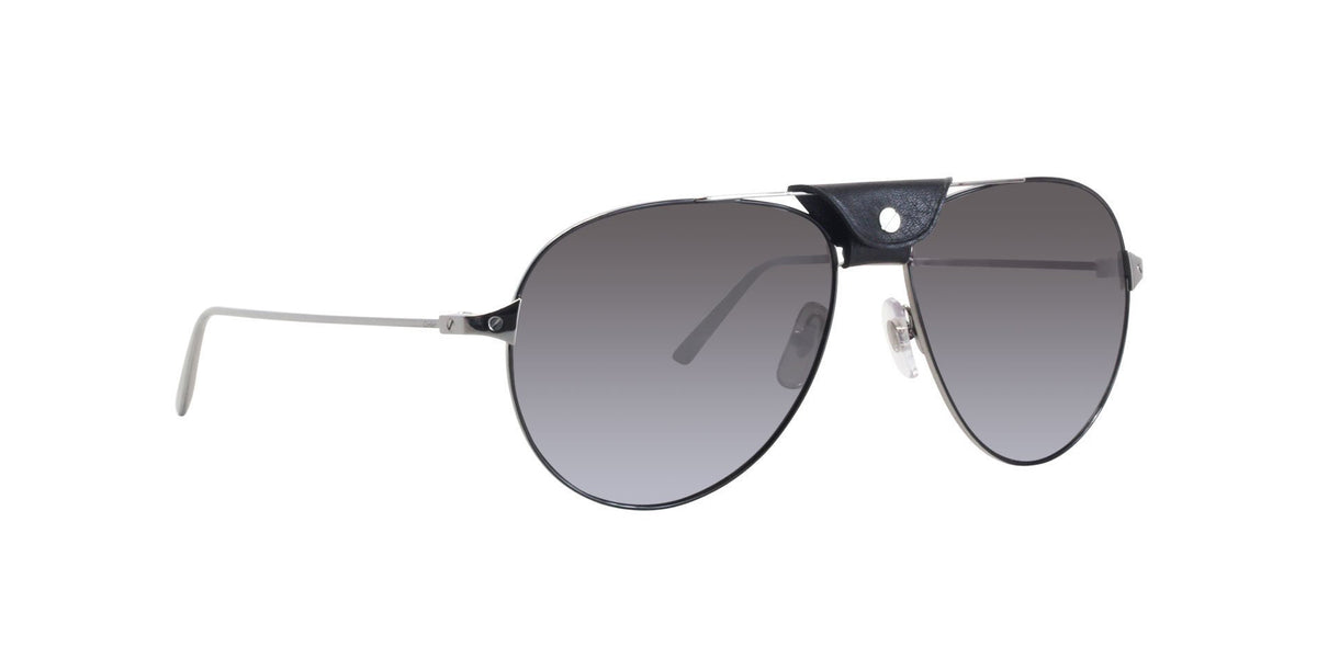 Cartier - CT0038S Black/Black Aviator Men Sunglasses - 61mm