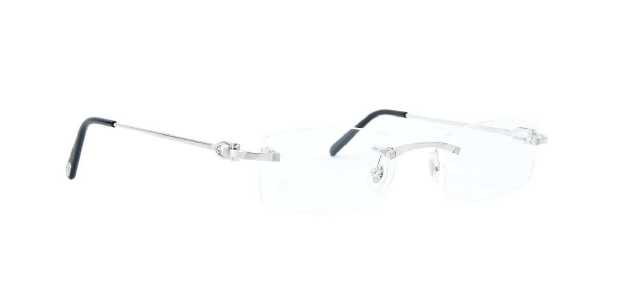 Cartier - Signature C Silver Rimless Unisex Eyeglasses - 51mm