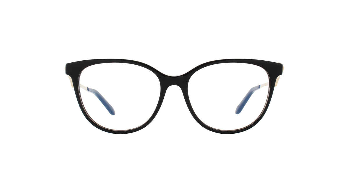 Cartier - CT0119O Black-Gold Phantos Women Eyeglasses - 52mm