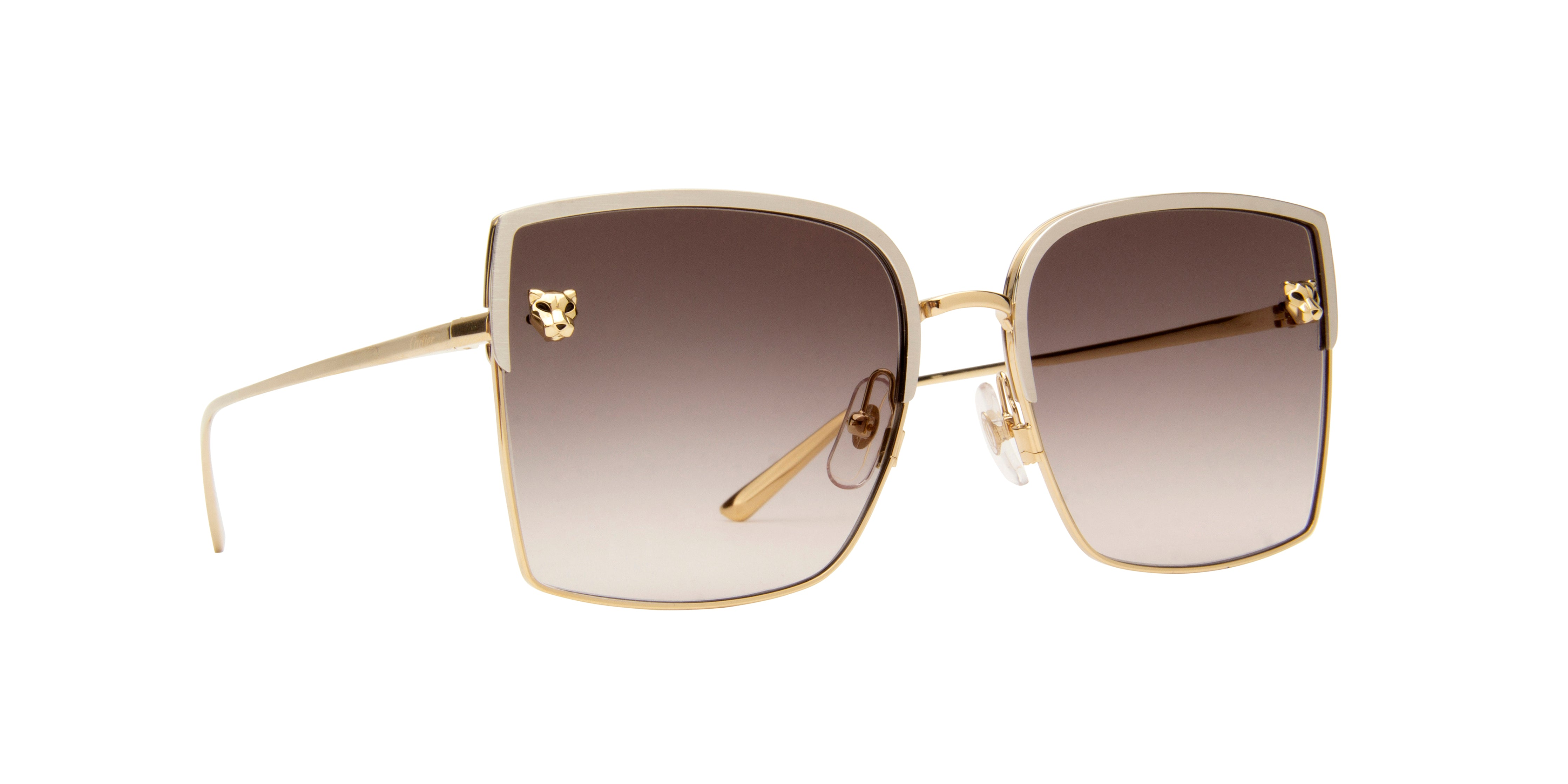Cartier - CT0199S Silver Oversized Women Sunglasses - 58mm